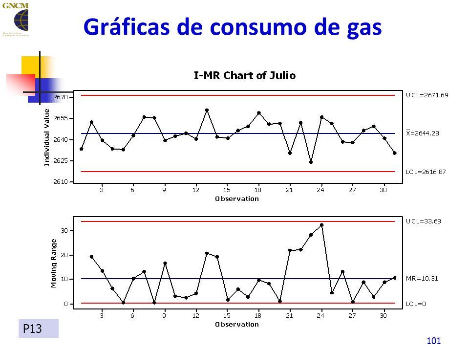 Gráficas de consumo de gas 101 P13