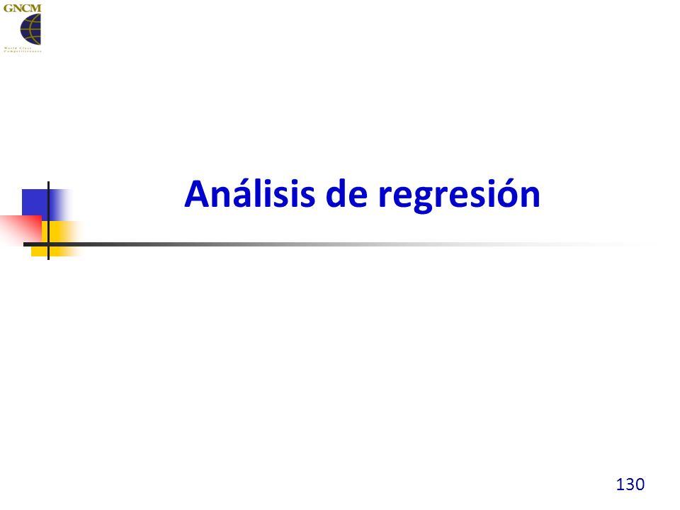 Análisis de regresión 130