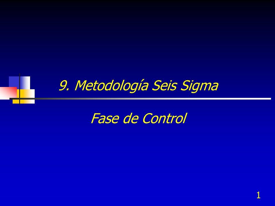 1 9. Metodología Seis Sigma Fase de Control