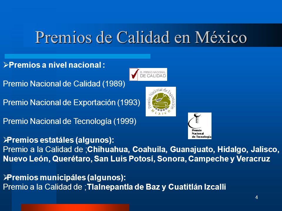 4 Premios a nivel nacional : Premio Nacional de Calidad (1989) Premio Nacional de Exportación (1993) Premio Nacional de Tecnología (1999) Premios esta