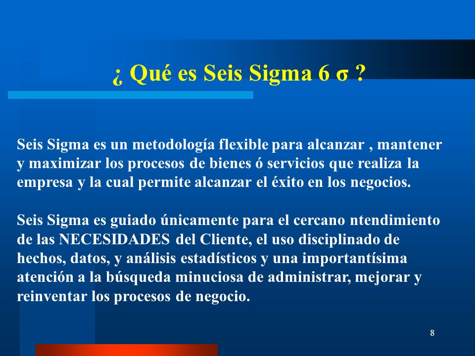 9 Proyectos SEIS SIGMA 6 σ Parte 2