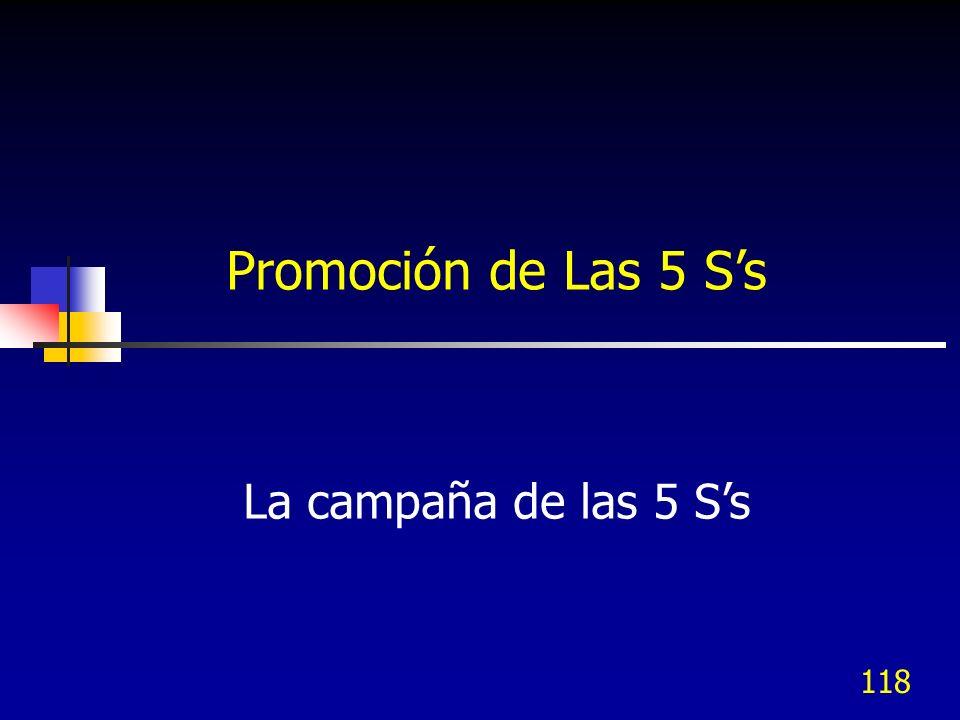 118 La campaña de las 5 Ss Promoción de Las 5 Ss