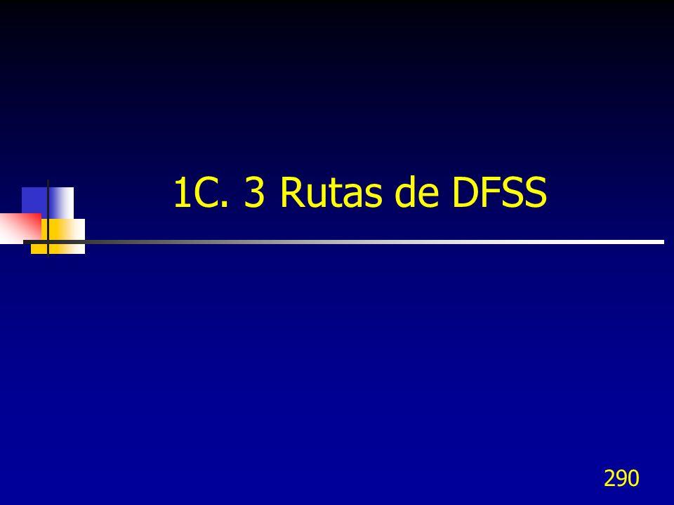 290 1C. 3 Rutas de DFSS