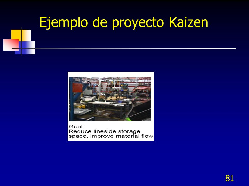 81 Ejemplo de proyecto Kaizen