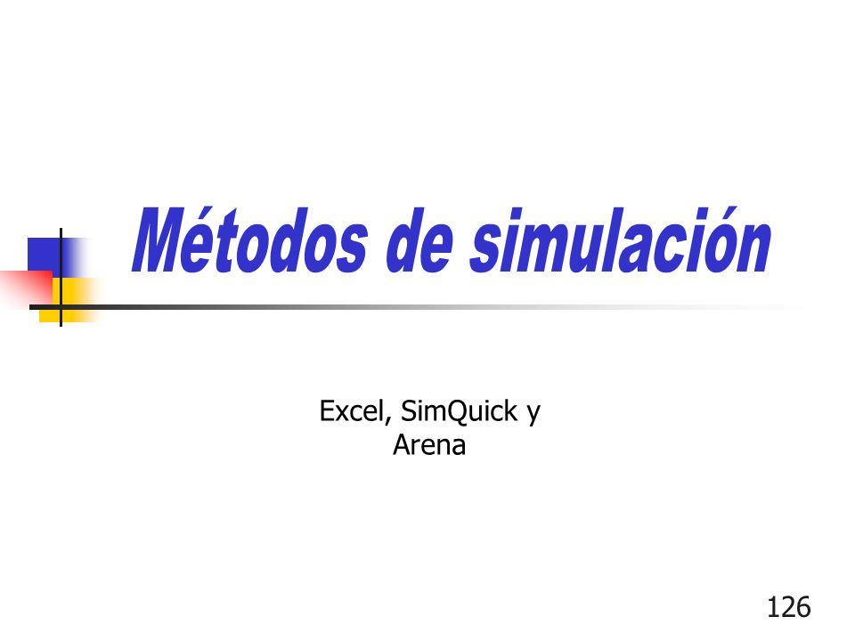 126 Excel, SimQuick y Arena