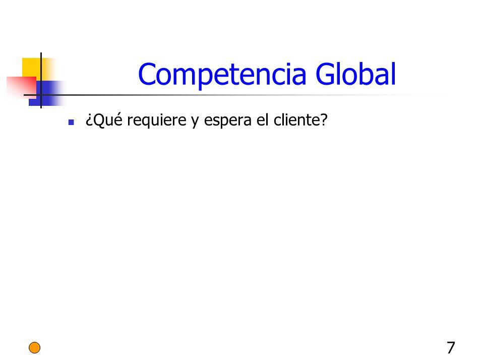 7 Competencia Global ¿Qué requiere y espera el cliente?