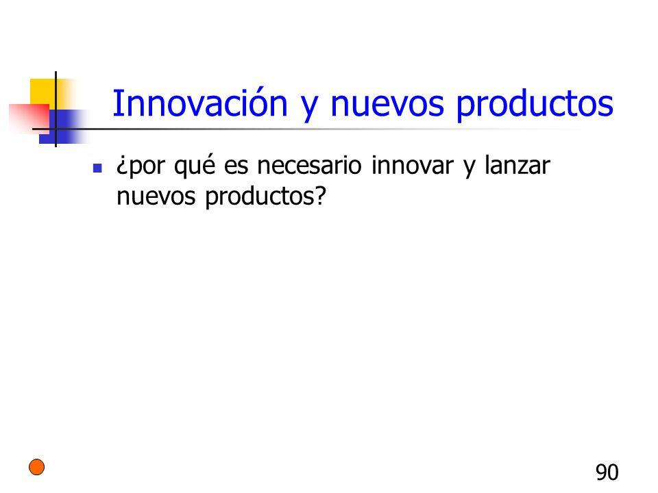 90 Innovación y nuevos productos ¿por qué es necesario innovar y lanzar nuevos productos?