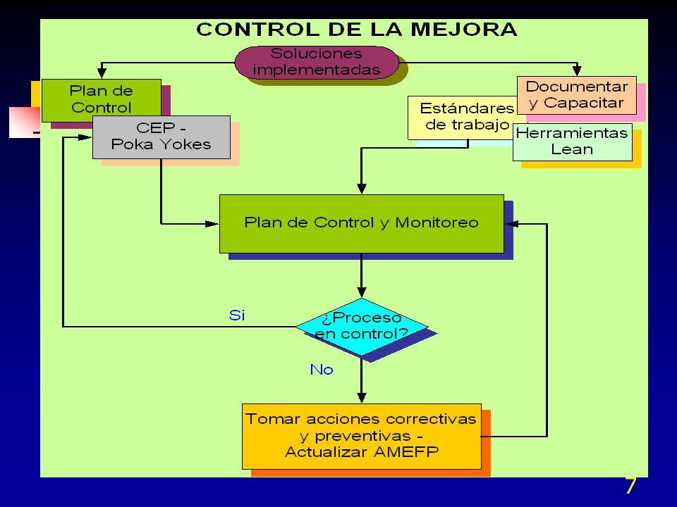 - Un proceso -Una actividad -Operaciones Limitadas - Todos los procesos -Todas las Operaciones -Todas las actividades Plan de control