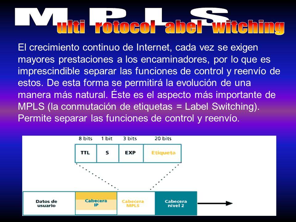 El principal elemento en la interconexion de MPLS es el LSR.