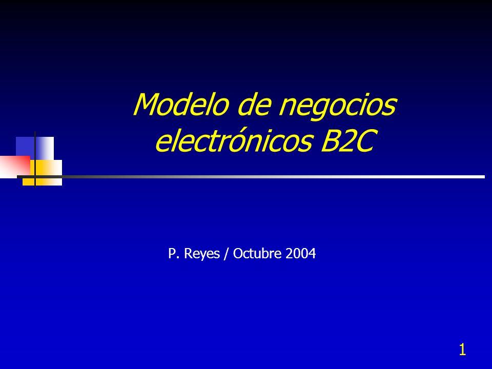 1 Modelo de negocios electrónicos B2C P. Reyes / Octubre 2004