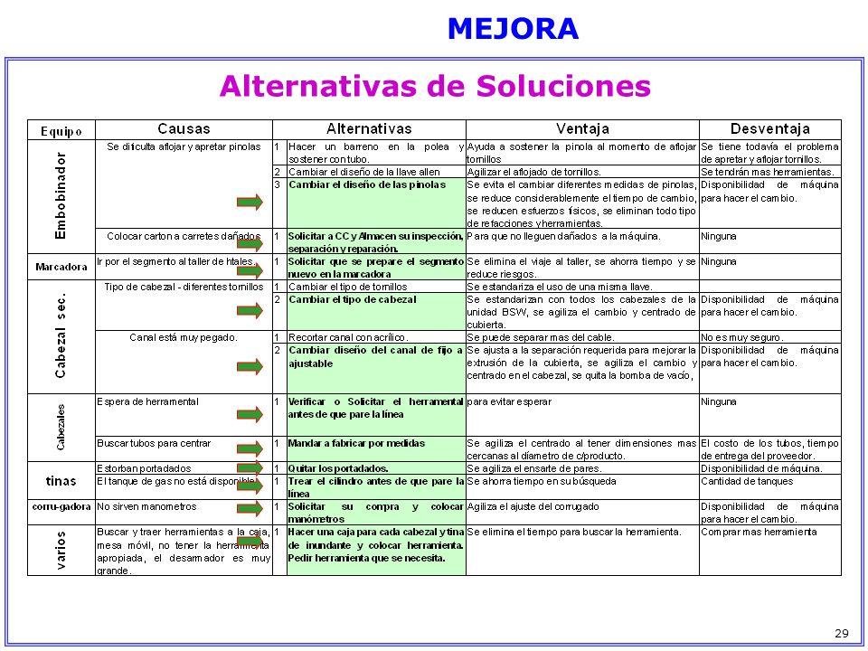 MEJORA Alternativas de Soluciones 29