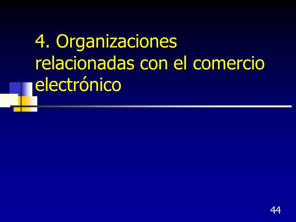 44 4. Organizaciones relacionadas con el comercio electrónico