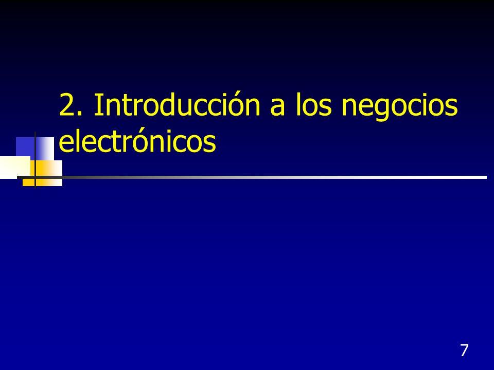 7 2. Introducción a los negocios electrónicos
