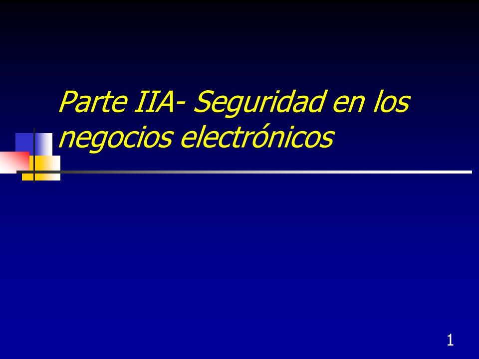 1 Parte IIA- Seguridad en los negocios electrónicos