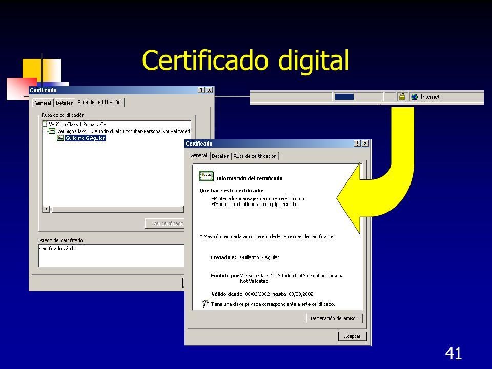 41 Certificado digital