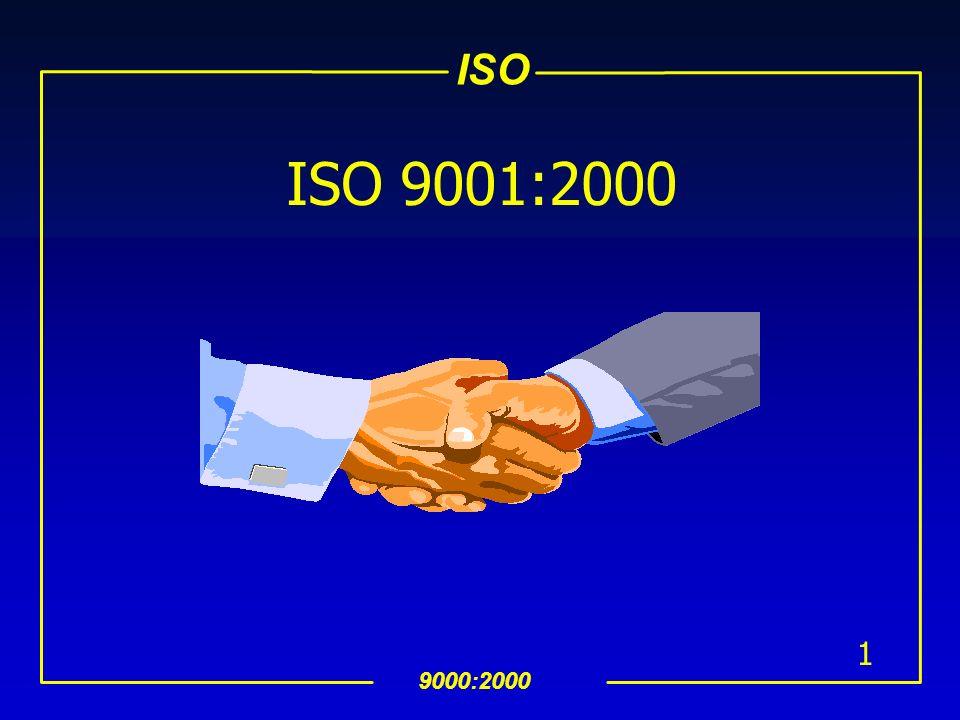 ISO 9000:2000 111 8.2.2 Auditoría Interna (Cont…) uLos auditores no deben auditar su trabajo uEl procedimiento documentado debe incluir: Responsabilidades, requerimientos para conducir auditorías, reportar resultados y mantener registros (ver 4.2.4) uLos responsables de las àreas auditadas deben asegurar que se estàn realizando acciones oportunamente para eliminar las no conformidades detectadas y sus causas uSe deben incluir actividades de seguimiento para la: verificación de las acciones realizadas reportar los resultados de la verificación (ver 8.5.2) NOTA: Vease ISO 10011-1,2 y3 como guìa