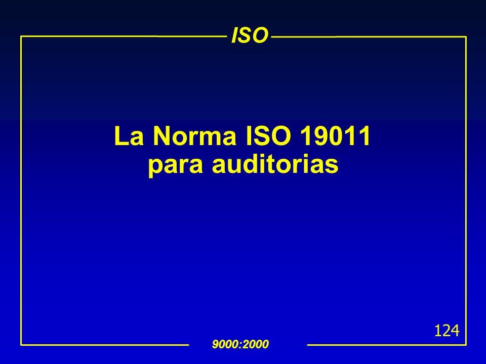 ISO 9000:2000 123 8.5.3 Acción Preventiva uEl procedimiento de acción preventiva debe definir requerimientos para: determinar las no conformidades pot