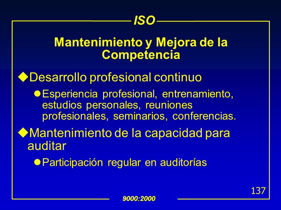 Ejemplo de Parámetros para determinar la Competencia de un Auditor