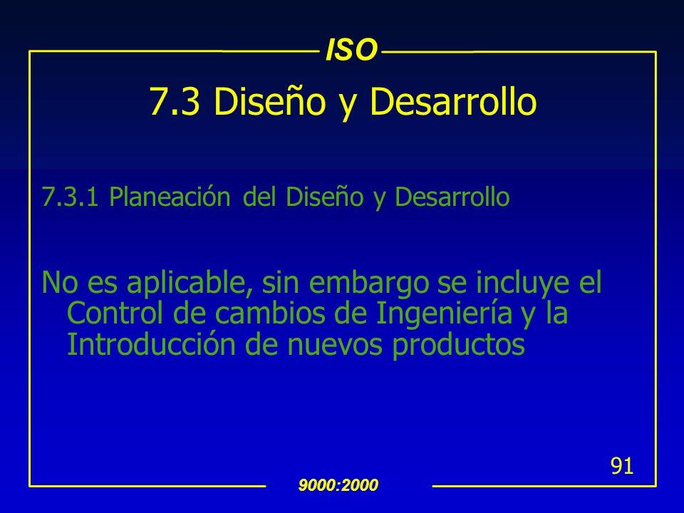 ISO 9000:2000 90 7.2.3 Comunicación con el Cliente uDebe identificar e implementar de manera ordenada la comunicación con el cliente, en relacion a la