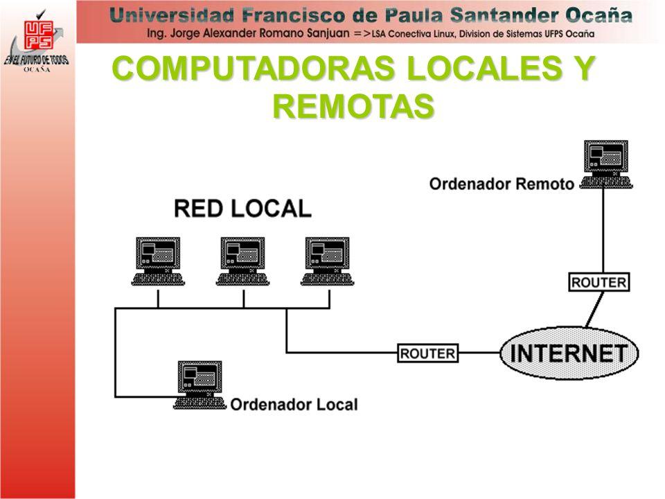 COMPUTADORAS LOCALES Y REMOTAS
