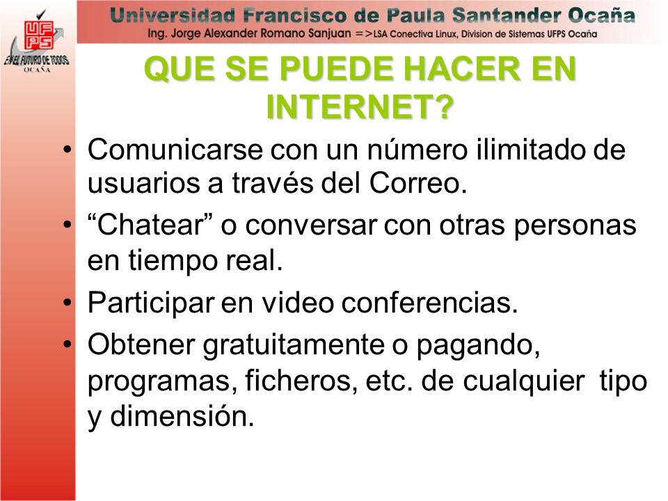 Comunicarse con un número ilimitado de usuarios a través del Correo. Chatear o conversar con otras personas en tiempo real. Participar en video confer
