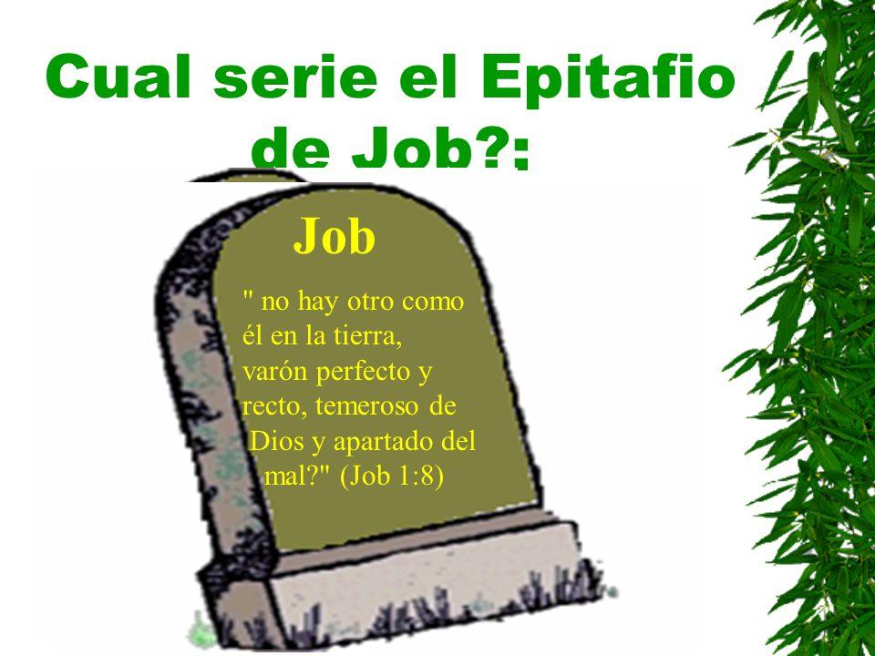 Cual serie el Epitafio de Job?: Job