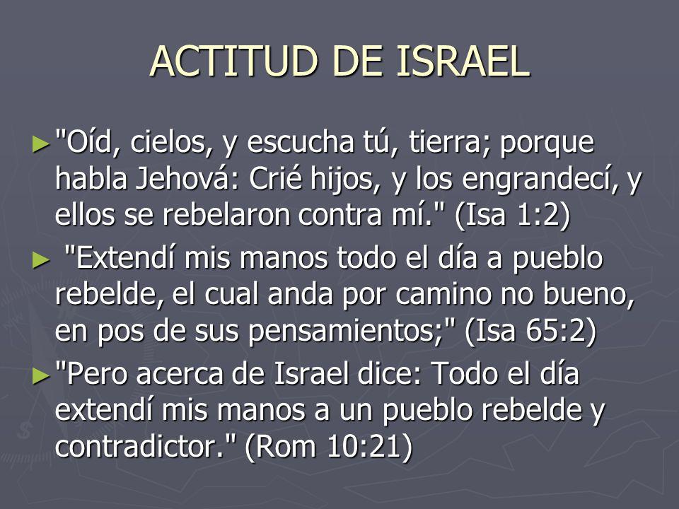 ACTITUD DE ISRAEL