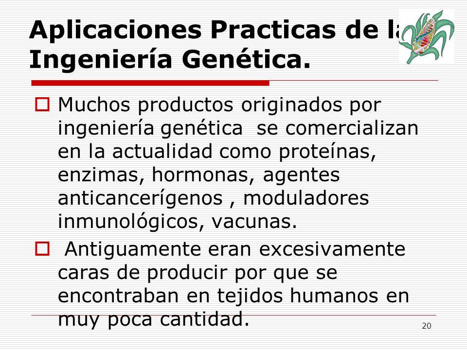 21 Aplicaciones Practicas de la Ingeniería Genética.