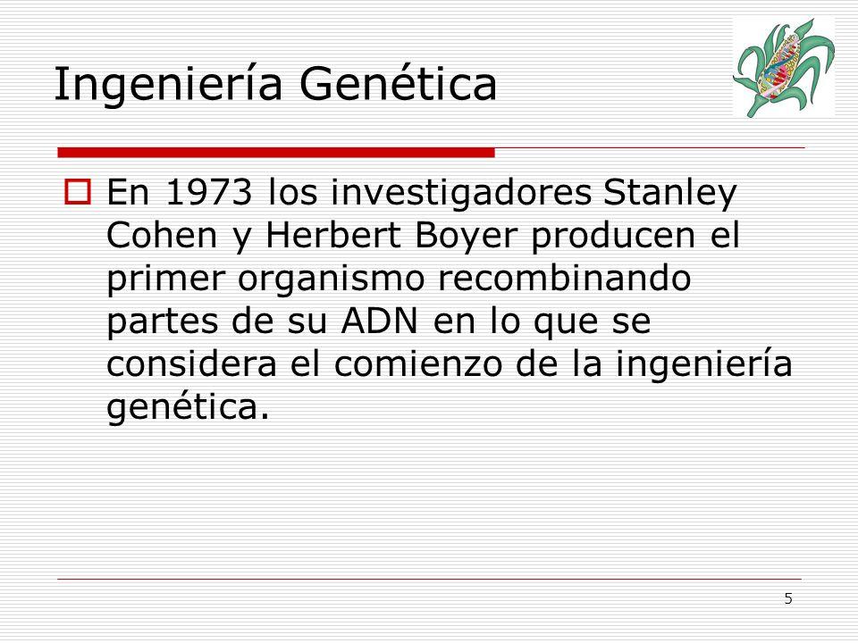 6 La Ingeniería Genética se basa en la clonación molecular.