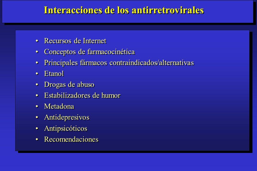 Hierba de San Juan (Hypericum): Utilizado como antidepresivo – 57% AUC de indinavir Piscitelli.