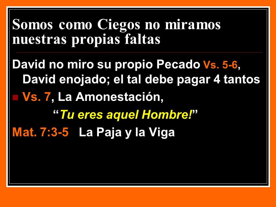 EFECTO DE LA AMONESTACION Vs.13Yo he Pecado… Vs. 13Pequé contra Jehová.