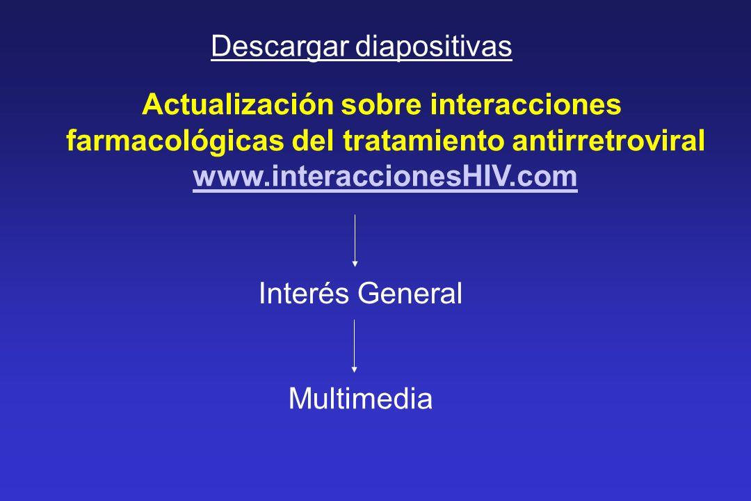 Actualización sobre interacciones farmacológicas del tratamiento antirretroviral www.interaccionesHIV.com Interés General Multimedia Descargar diaposi