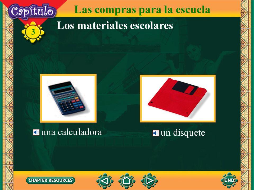 Las compras para la escuela Los materiales escolares una hoja de papel 3