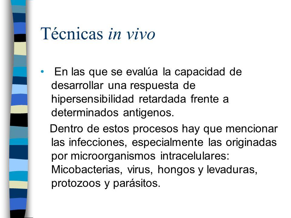 Valoración de la respuesta celular También en determinadas alteraciones patológicas como inmunodeficiencias.