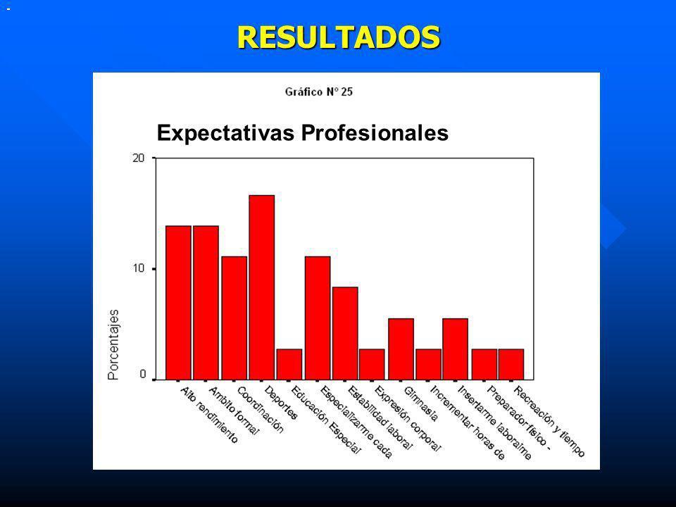 RESULTADOS Expectativas Profesionales