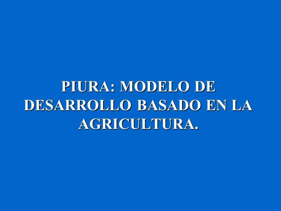 PIURA: MODELO DE DESARROLLO BASADO EN LA AGRICULTURA.