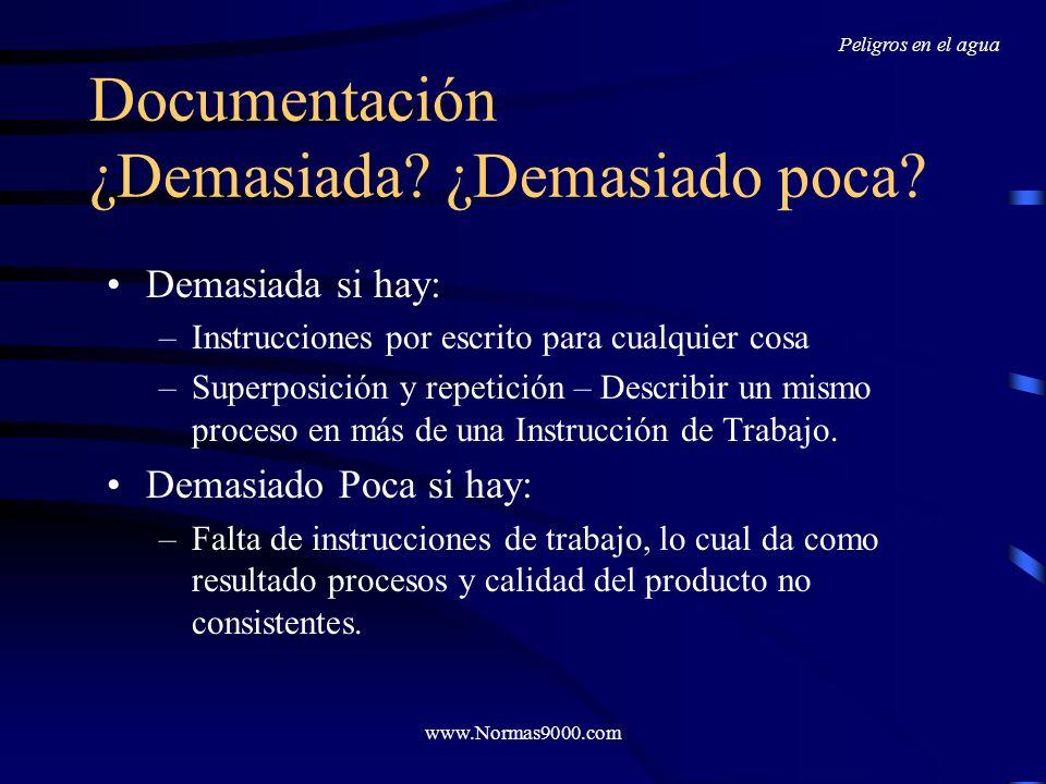 www.Normas9000.com Haz amigables los Procedimientos Utiliza frases cortas, y de ser posible utiliza la estructura: sujeto-verbo-predicado. Evita el us