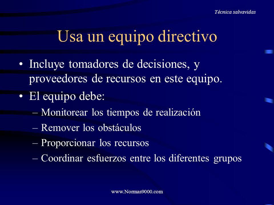 www.Normas9000.com Ayúdales a ver como puede trabajar por ellos un Procedimiento Es importante demostrar a estos departamentos que el proceso debe ser