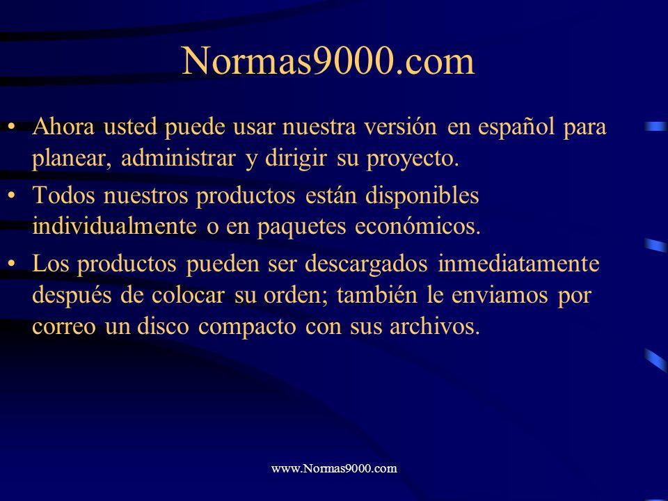 www.Normas9000.com Normas9000.com Por más de 15 años hemos diseñado herramientas que han ayudado a compañías en todo el mundo a lograr la certificació