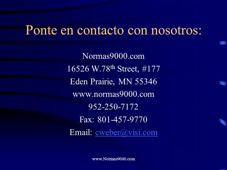 www.Normas9000.com Normas9000.com Visite nuestras páginas de productos para obtener una descripción detallada de cada uno de ellos. Asegúrese de revis