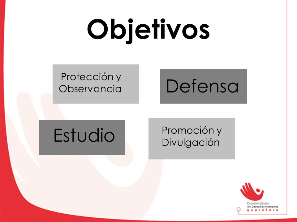 Objetivos Protección y Observancia Promoción y Divulgación Estudio Defensa