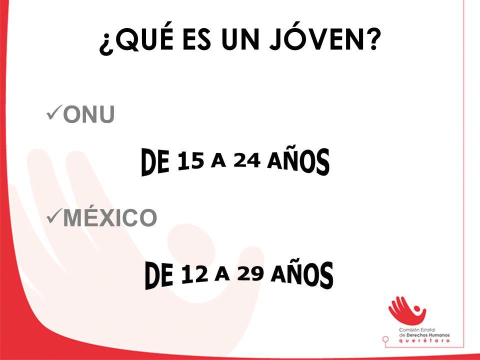 ¿QUÉ ES UN JÓVEN? ONU MÉXICO