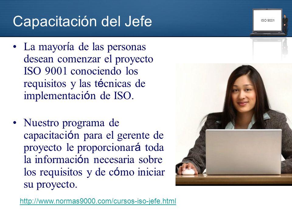 ISO 9001 La mayor í a de las personas desean comenzar el proyecto ISO 9001 conociendo los requisitos y las t é cnicas de implementaci ó n de ISO. Nues