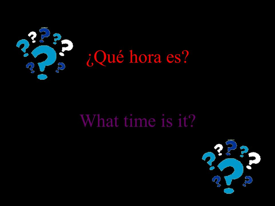 Topic: What time is it? Give the Spanish translations. Click to begin