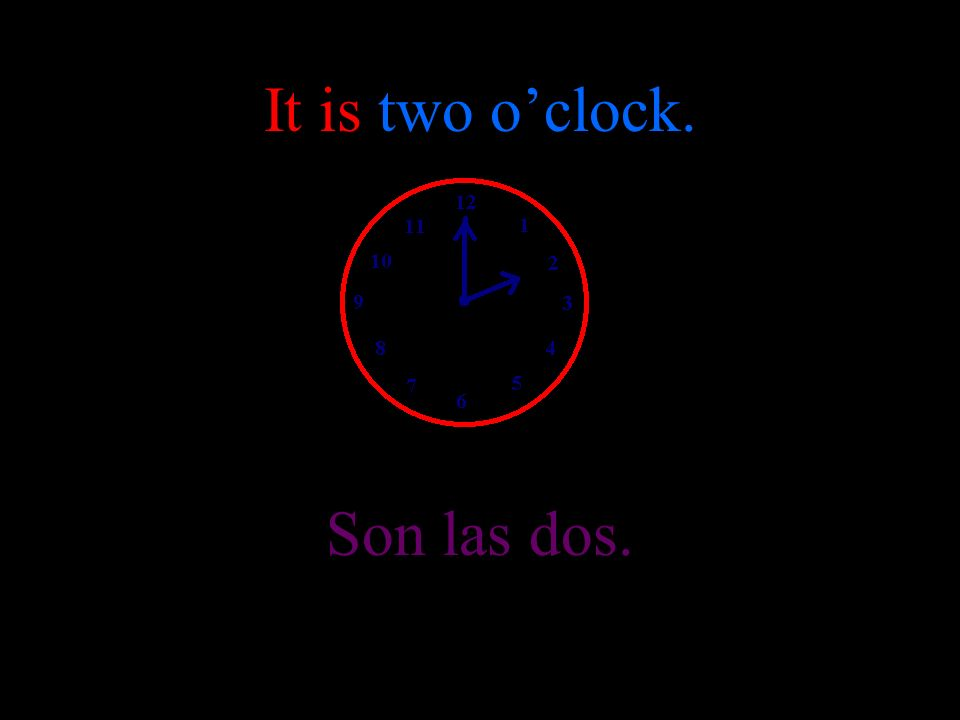 It is one oclock Es la una.