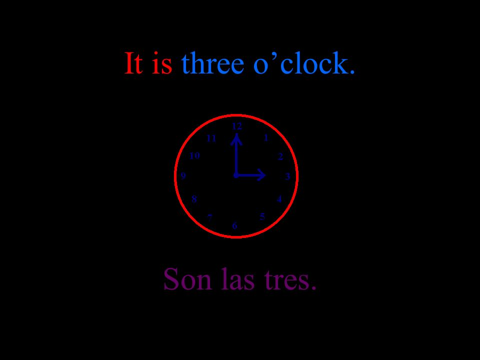 It is two oclock. Son las dos.