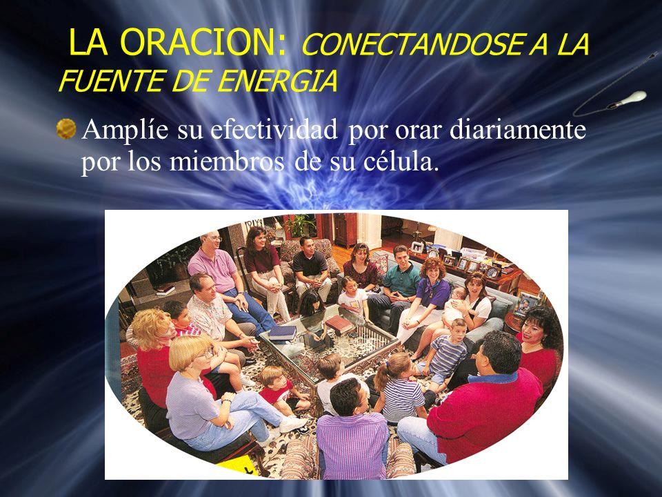 Al comparar la oración, visitación, y reuniones sociales, se descubrió que ORAR POR LOS MIEMBROS DEL GRUPO es el trabajo más importante del líder para unir y reforzar al grupo en la preparación para multiplicarse.