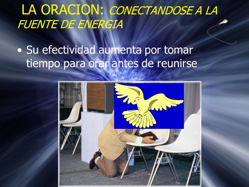 Oración individual antes de que comience el grupo LA ORACION: CONECTANDOSE A LA FUENTE DE ENERGIA