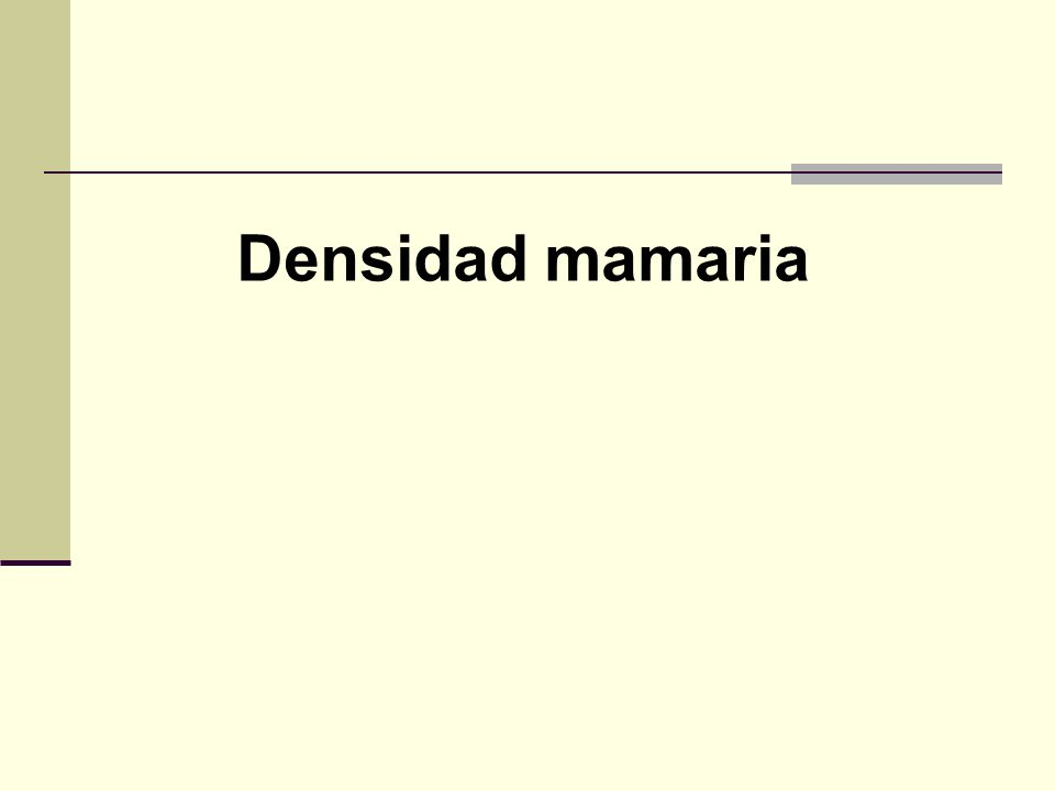 Densidad mamaria