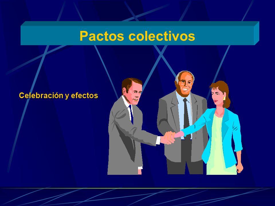 Pactos colectivos Celebración y efectos